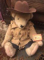 Vintage NABCO Cornelius Vanderbear Teddy Bear Wild West Cowboy outfit, 22in EUC