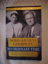 1994 Book, No Ordinary Time, Franklin & Eleanor Roosevelt: In Wwii, Goodwin; Sp