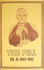 PILL IS A NO-NO Vintage 1968 PANDORA HEAD SHOP poster 11x17 POPE ABORTION Mint