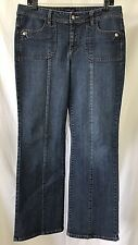 Ashley Judd Women's 4 Pocket Stretch Denim Blue Trouser Jeans Size 12