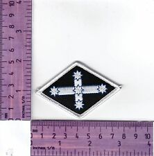 White Border Eureka Flag Diamond Bikers Embroidered Cloth Patch / Badge