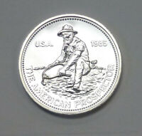 1985 ENGELHARD PROSPECTOR  .999+ Silver 1 ozt  BU UNLISTED Variety THICK DATE