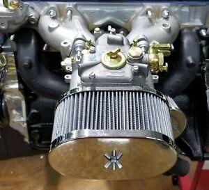 Datsun 510 620 240Z 260Z 280Z WEBER DCOE MIKUNI Chrome Air Filter Engine Motor