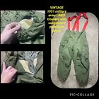 VTG Military 1951 PANTS TROUSER EXTREME COLD ARCTIC WEATHER LINED W SUSPENDERS