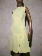 CHIC VINTAGE ROBE 1970 VTG DRESS 70s KLEID 70er ABITO ANNI 70 VESTIDO (36/38)