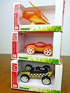 Hape Twin Turbo Police Helicopter Bamboo Toy Car Imaginative Play Sustainable