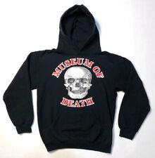 Museum of Death Skull Pullover Hoodie S Small Black Sweatshirt goth metal punk