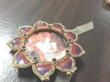 R. J. Graziano Picture Frame Round Austrian Crystals, French enamel - V300