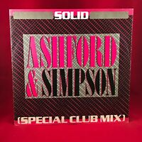 "ASHFORD & SIMPSON Solid 1984 UK 3-track 12"" Vinyl Single EXCELLENT CONDITION E"