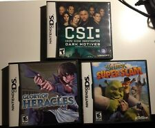 Lot of 3 games for Nintendo DS. Working. Good condition.