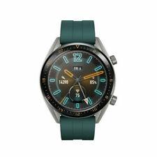 Huawei Watch GT Active Edition 46mm Cassa in Acciaio Argento, Cinturino in Fluoroelastomero  Dark Green, GPS Orologio