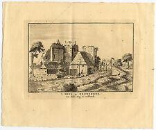 Antique Print-SANTPOORT-BREDERODE-BLOEMENDAAL-CASTLE-Schijnvoet-Roghman-1754