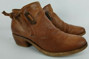 A.S.98 AirStep Womens Brown Leather Ankle Heel Shoes Boots Size 41