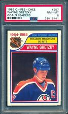 1985-86 OPC O PEE CHEE Hockey #257 Wayne Gretzky PSA 8 NM-MINT Edmonton Oilers