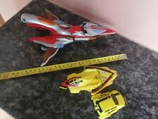 3 Vtg Toys 1996 Bandai Ultraman Tiga Popy Chogokin, 2000 Power Ranger, Mini-car