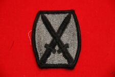GENUINE US ARMY ISSUE CLOTH ACU 10TH DIVISION PATCH ORIGINAL NOT CHINESE COPY