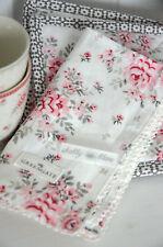 Greengate Serviette Stoff Flora White 40 x 40 vintage Landhaus Shabby