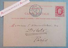 Carte autographe 1879 L. AUBANEL Journaliste La Tribune de Mars Belgique Mons