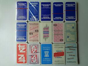 """15x Schafkopf/Tarock/Skat/Spielkarten mit Werbung von """"verschiedenen Zeitungen"""""""