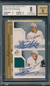 2007-08 SP Game Used Edition Dual Inked Sweaters Getzlaf/Perry Auto Jsy BGS 8