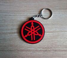 YAMAHA Logo Keyring Keychain Red Black Rubber Motorcycle Racing Collectible Gift