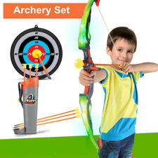 Light Up Portable Kids Bow and Arrow Toy Basic Archery Set Outdoor Hunting Game