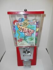 Vtg Gumball / Toy 25 Cent Vending Machine Stocked w/ Stretchy Pest Rubber Toys