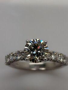 14K WHITE GOLD SEMI MOUNT REAL DIAMONDS ENGAGEMENT  WEDDING RING