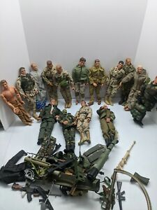 "GI Joe Dragon 21st century 1/6 Figures 12"" WWII German soldiers+ accessories lot"