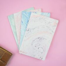 A5 Pink Notebook Portable Marble Lined Notepad Stationery Painting Style