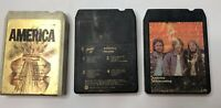America 8Track Hearts Homecoming Lot Of 3