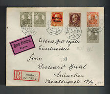 1920 Munich Germany Express Mail cover