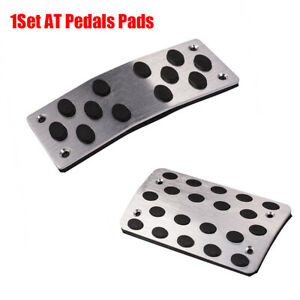 2x Non-Slip Automatic Gas Brake Foot Pedal Pad Cover Car Aluminum Alloy & Rubber