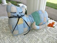 New listing Calico Stuffed Cat Handmade from Old Vintage Quilt Americana