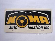 NOMA AUTO LOCATION Plastic Vanity Vintage License Plate