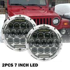 DOT 7inch Round LED Headlight Hi-Lo DRL for Jeep Wrangler VW Beetle Classic 2Pcs