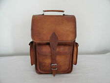 "Real Leather Backpack 13"" Macbook Bag Laptop Rucksack Daypack Shoulder Bag"