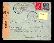 Belgium 1942 Censor Cover to Holland - L10962
