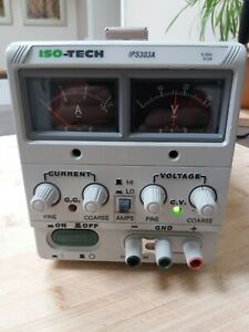 ISO Tech IPS 303A Digital bench power supply, 0-30 Volts, 0-3 Amps, + mains lead