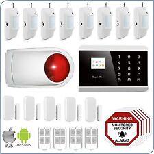 3G+PSTN Wireless Home Security DIY Burglar House Alarm System Android-ios App