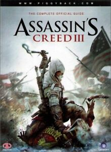 ASSASSIN'S CREED III COMPLETE OFFICIAL GUIDE STRATEGY PAPERBACK BOOK PIGGYBACK