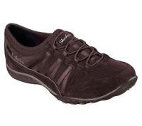 NEW SKECHERS Women Sneakers Slipper Memory Foam BREATHE-EASY MONEYBAGS Chocolate