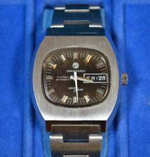 *Desta Tressa Walkman Laser Beam Stainless Steel Automatic Day Date Watch w/ Box