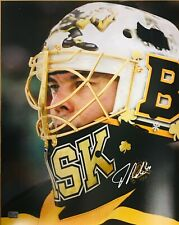 Tuukka Rask Boston Bruins Signed Autographed 2019 Winter Classic Mask 16x20