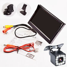 5 Inch TFT LCD HD Car Monitor 2 Way Video Input with 12LED Dynamic Track Camera