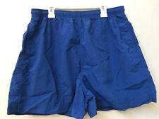 Lands End Womens Shorts size Large blue Elastic Waist Pull On supplex nylon