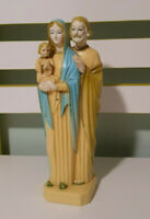 CATHOLIC RELIGIOUS STATUE MADE IN HONG KONG PLASTIC 21CM