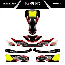 FP7 SWIRLS  FULL KART STICKER KIT - KARTING - OTK - ROTAX IAME