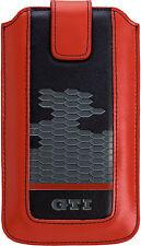 Volkswagen GTI Leder Handy Tasche z.B.Samsung A500 Galaxy A5 Sony Xperia M2 Aqua