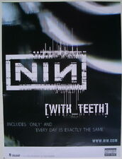 """Nine Inch Nails """"With Teeth"""" U.S. Promo Poster - Trent Reznor"""